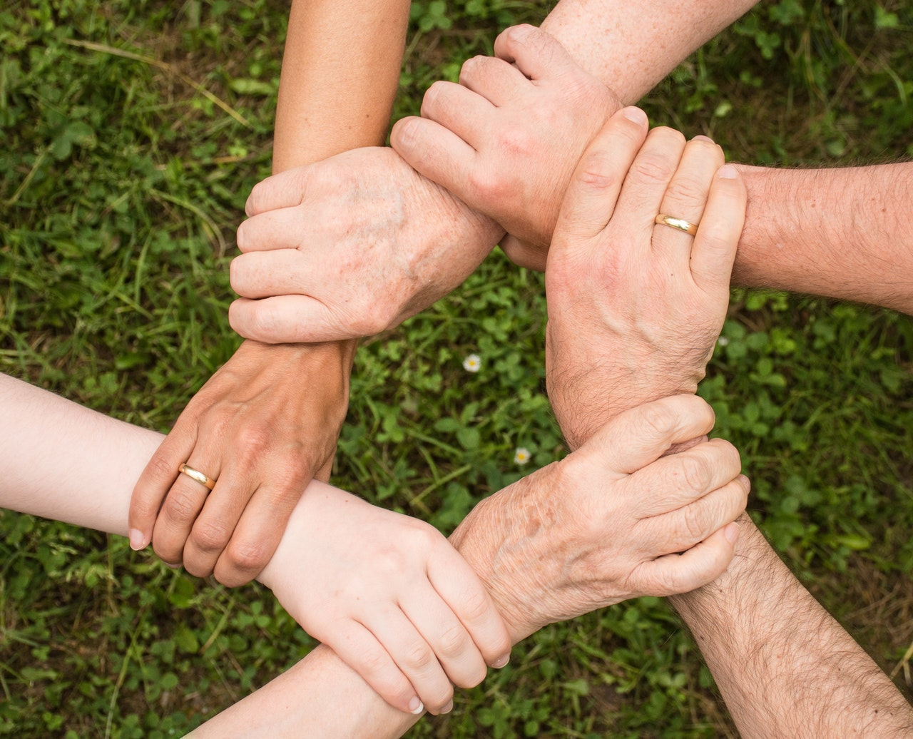 Joining Hands: A Flow of Compassion