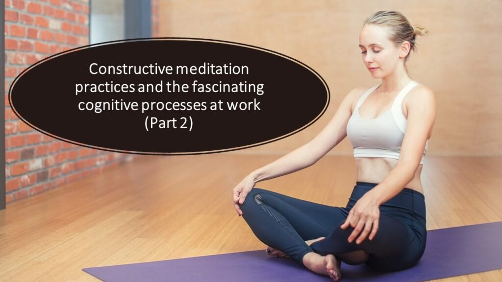 Constructive Meditation practices: The Fascinating cognitive processes at work (Part 2) reappraisal and perspective taking