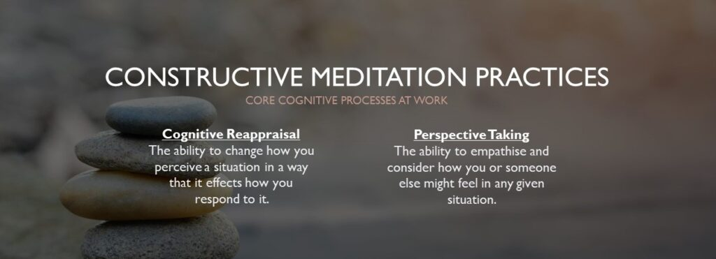 core cognitive processes in constructive meditation practices