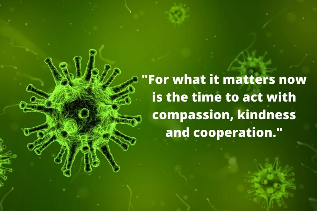 The Golden Rule and the Coronavirus COVID-19 - Compassion is the Key (compassion and cooperation are key)