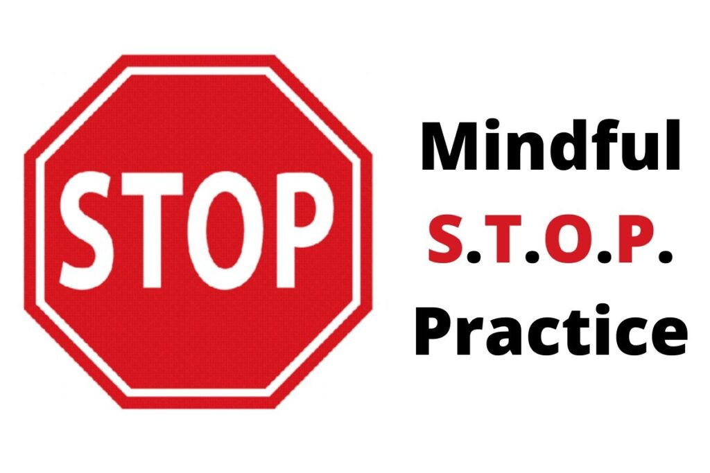 taking a mindful stop practice